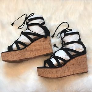 f474a466bc0 FRYE heather gladiator wedges NWT